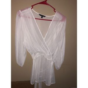 Express sheer swim cover up top